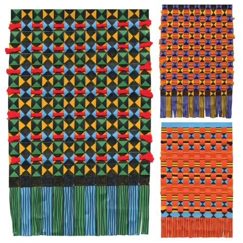 Kente Cloth Paper Weaving Project African Art Projects Paper