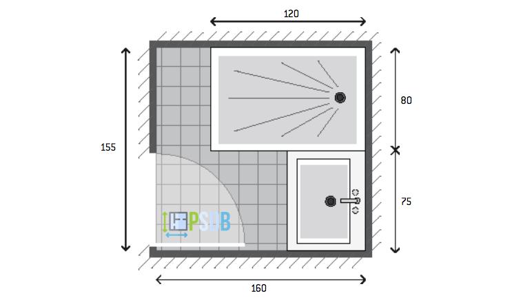 Exemple de plan de salle de bain de 2,5m2 | Plans pour petites ...