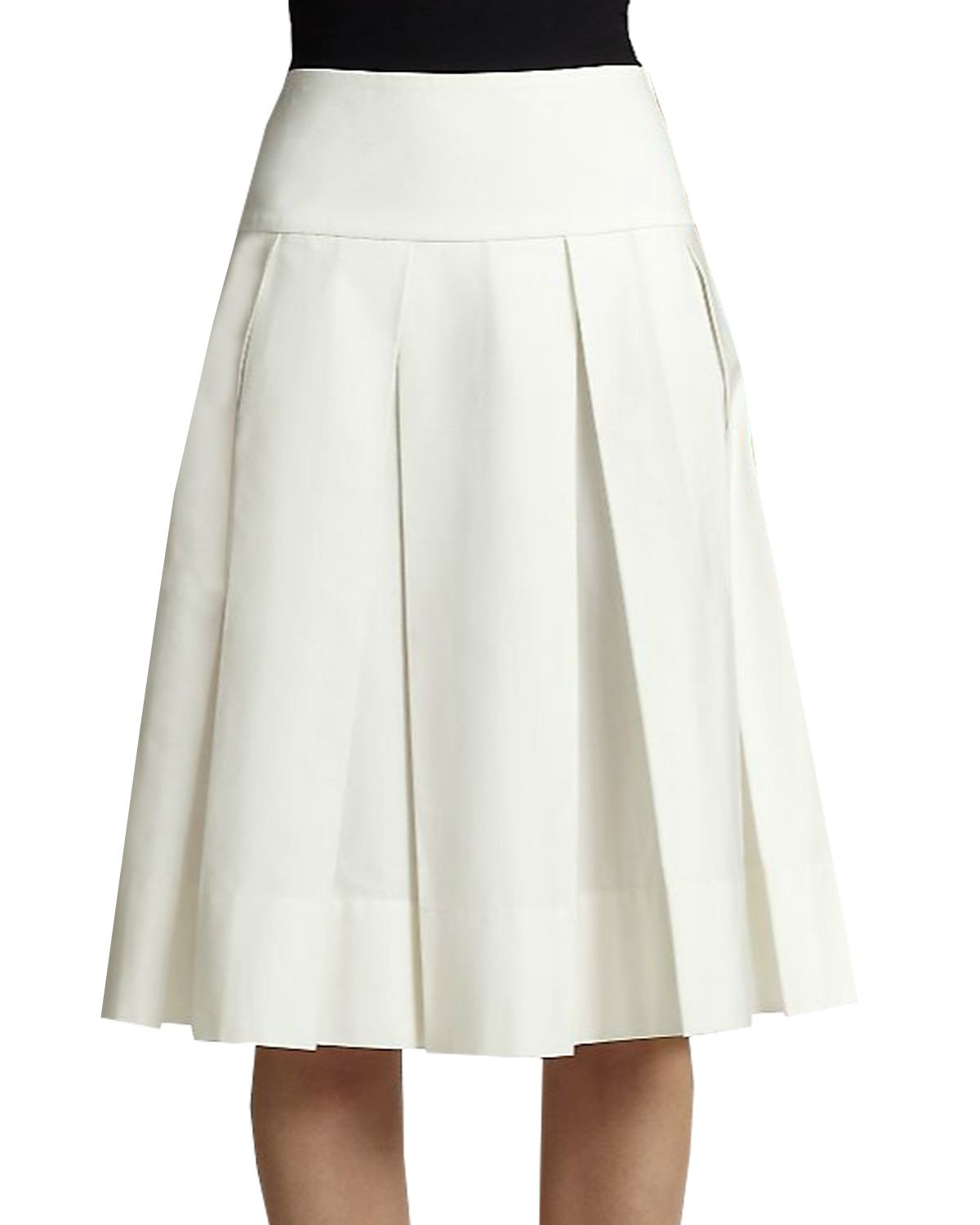 815335c332 Box Pleated Skirt with Yoke in 2019 | Custom made Skirts | Box pleat ...