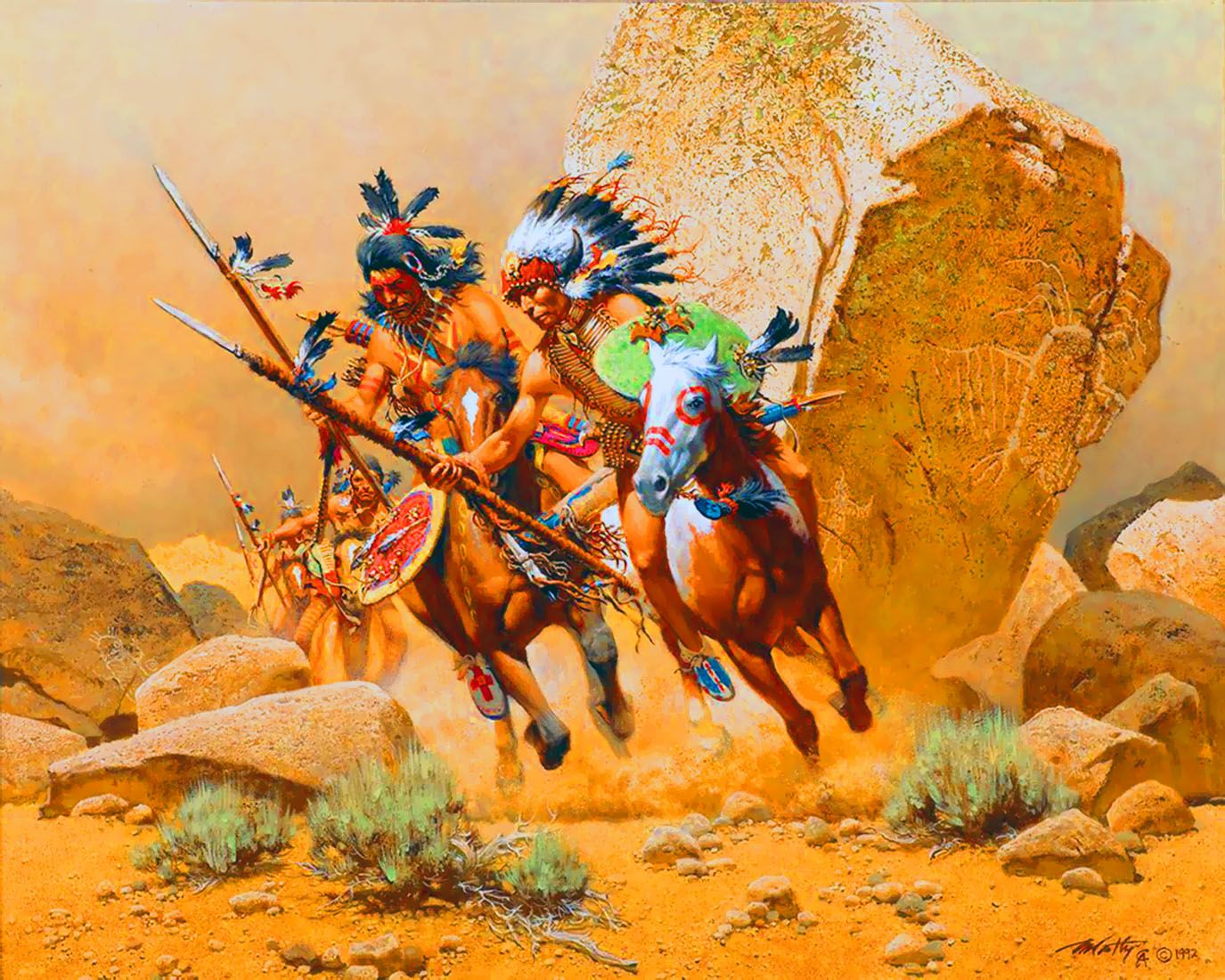 Dog Soldiers American Indian War Art