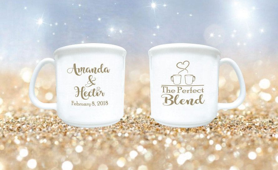 200 Wedding Favors The Perfect Blend Personalized 8oz Plastic Coffee
