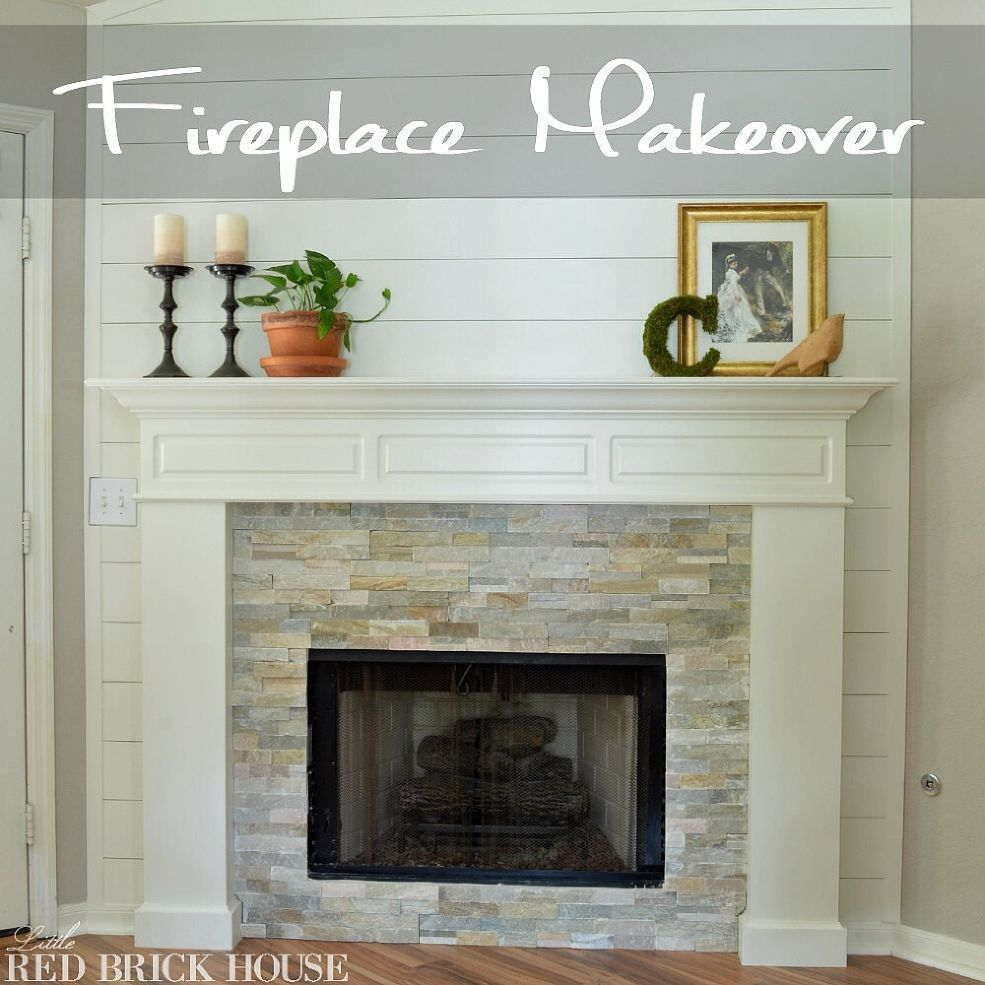 Fireplace Makeover: Fireplace Makeover Reveal
