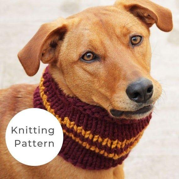 Gryffindor dog cowl knitting pattern, dog cowl pattern ...