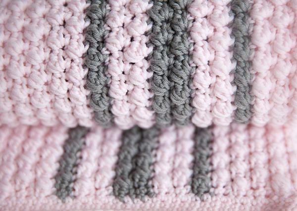 Bobbles and Stripes Baby Blanket Pattern | Patterns | Pinterest ...
