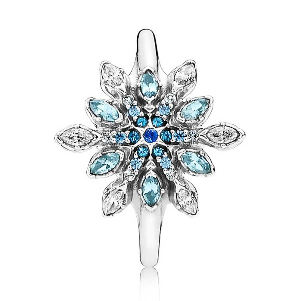 pandora anillo copo de nieve