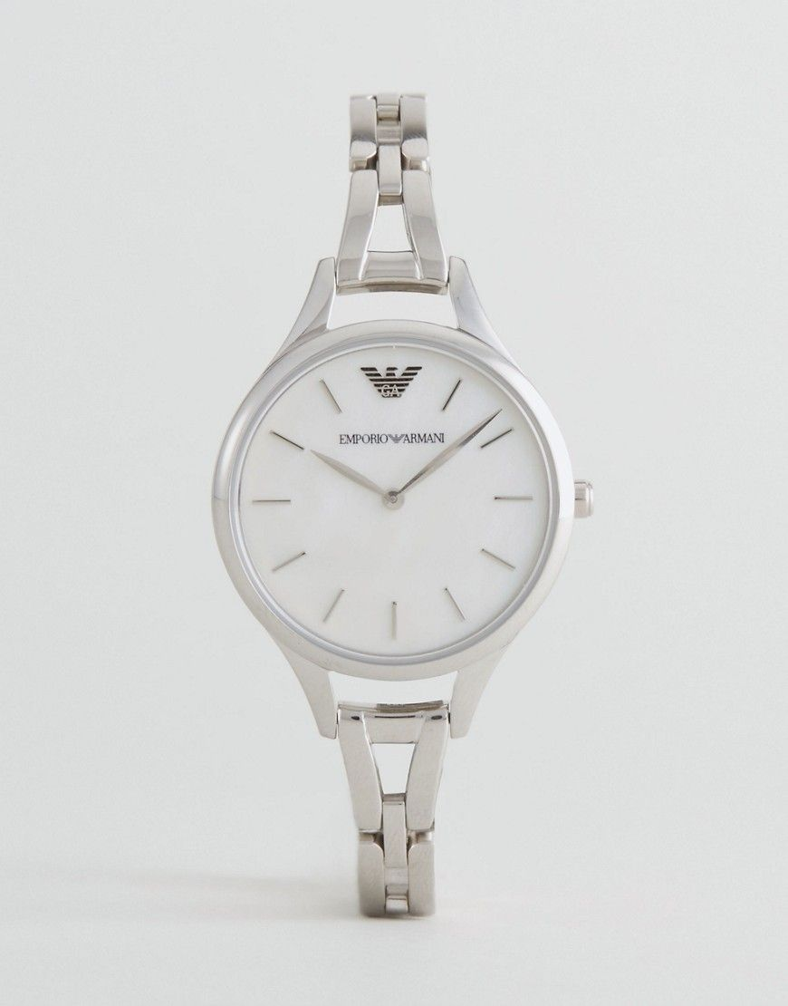 ca2512a4d09d Get this Emporio Armani s watch now! Click for more details. Worldwide  shipping. Emporio Armani AR11054 Bracelet Watch In Silver - Silver  Watch  by Emporio ...