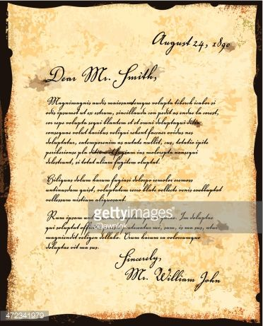 Vector Art  Old fashioned letter correspondence design template À - new letter to minister format australia