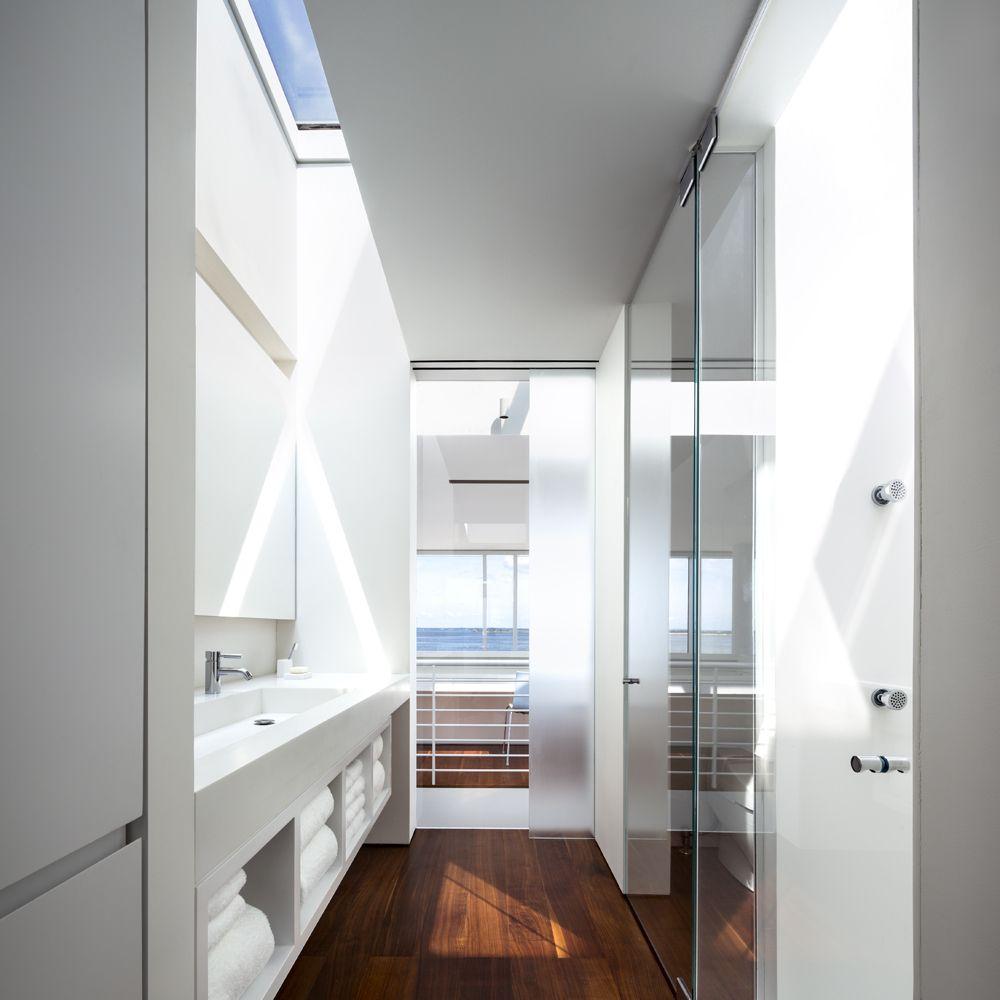 Fire island house richard meier partners architects for Casa moderna gardone