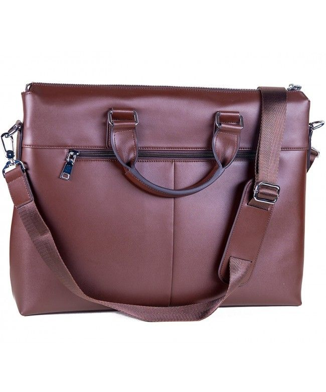 06891c33ac Laptop Bag Leather for Men or Women - fits 13 14 15 inch Laptops MacBooks -  2 Colors Black Brown - Dark Brown - C112MY6WSH8  Bags  handbags  gifts   Style ...