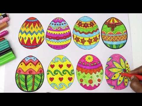 1 Coloring Pages Easter Egg Surprise Coloring Book Videos For Children Rainbow Learning Colors Youtube Rainbow Learning Learning Colors Coloring Books