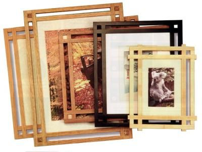 Build A Mission Style Picture Frame Startwoodworking Com Diy Picture Frames Picture Frames Woodworking Plan