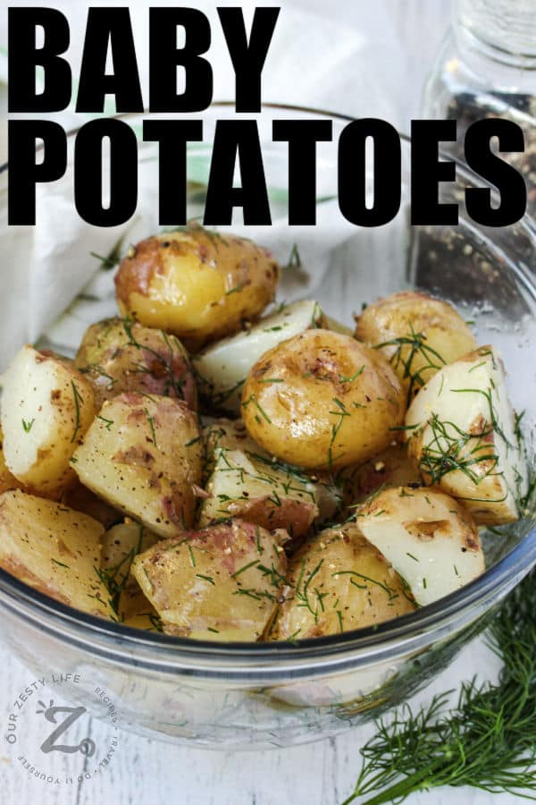 Baby Potatoes Recipe Only 4 Ingredients Our Zesty Life Recipe In 2020 Potato Recipes Baby Potato Recipes Recipes