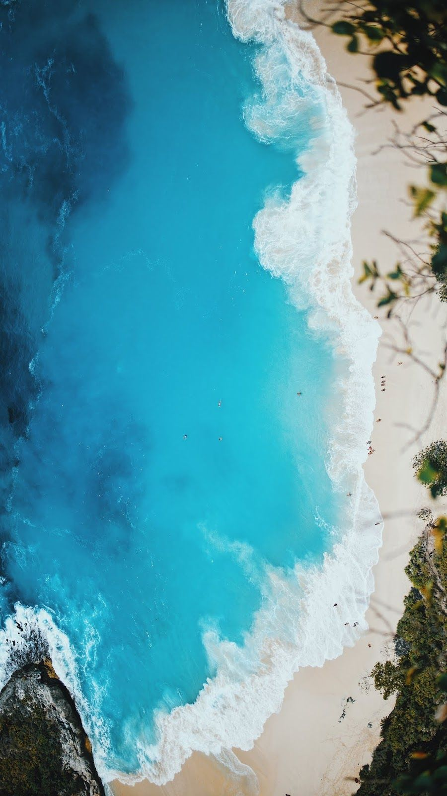 Aerial view of beach wallpaper iphone android Of