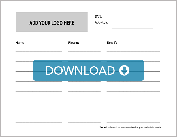 Download these free real estate open house signin sheet templates – Event Sign in Sheet Template