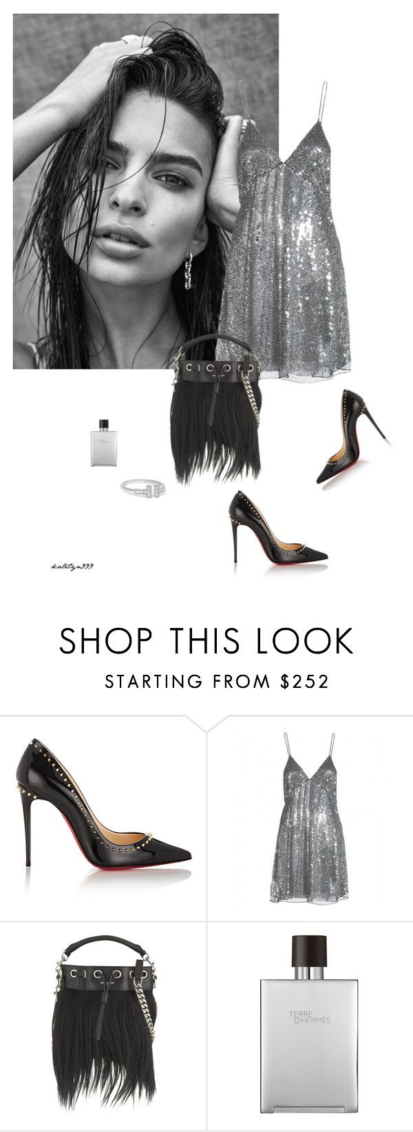"""Party girl..."" by katelyn999 ❤ liked on Polyvore featuring Christian Louboutin, Yves Saint Laurent, Tiffany & Co. and Hermès"