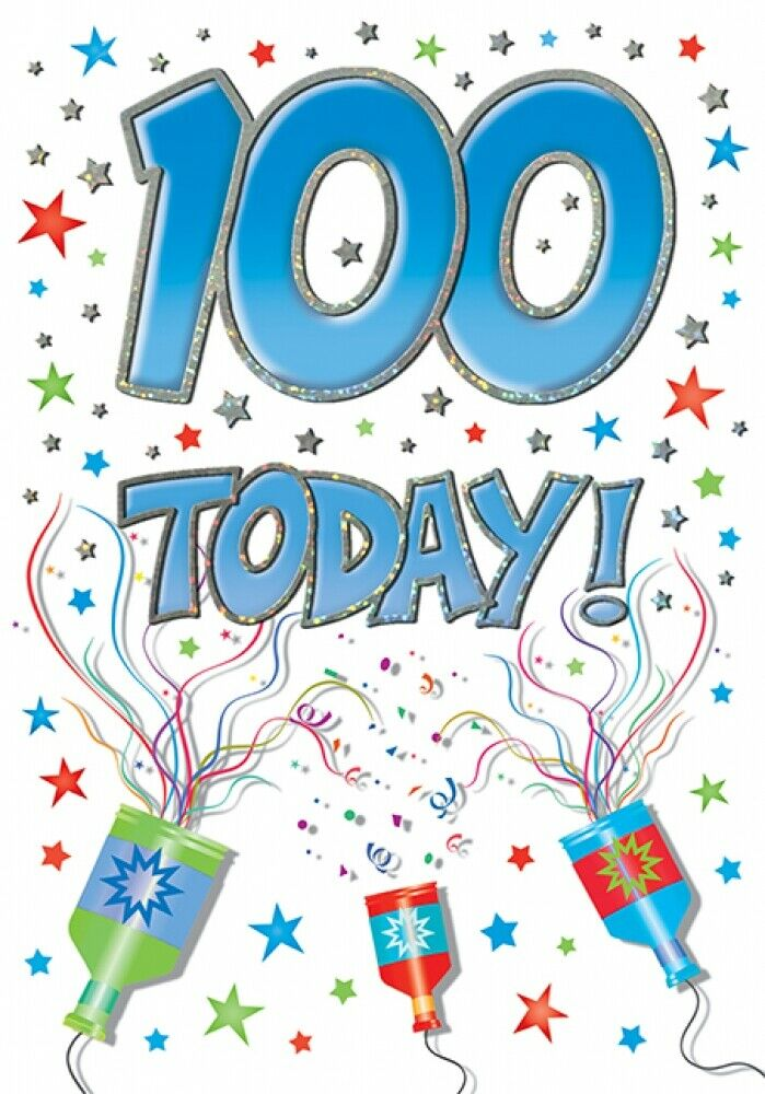 100th Birthday Card For Him 100 Years Old Piccadilly Cards 7 X 5 Inches Ebay 100th Birthday Card Birthday Cards Birthday Cards For Him