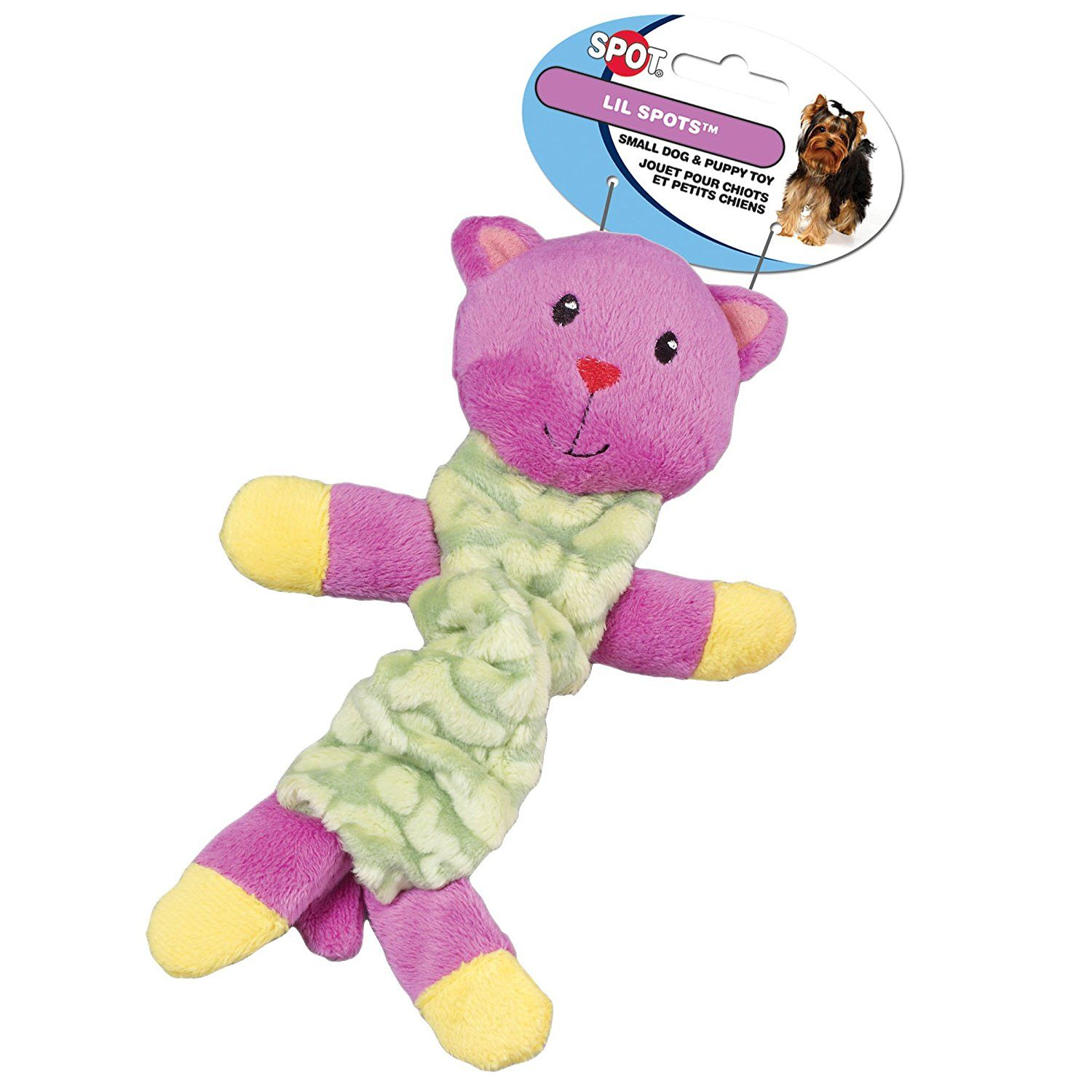 Ethical Pet Lil Spots Plush Bungee Toys for Small Dogs and Puppies