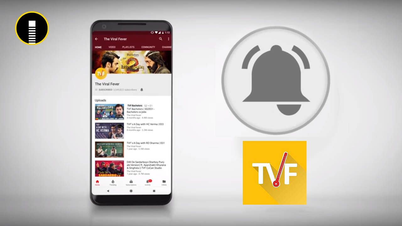 Youtube Channel Subscribe Bell Icon Intro Video like TVF