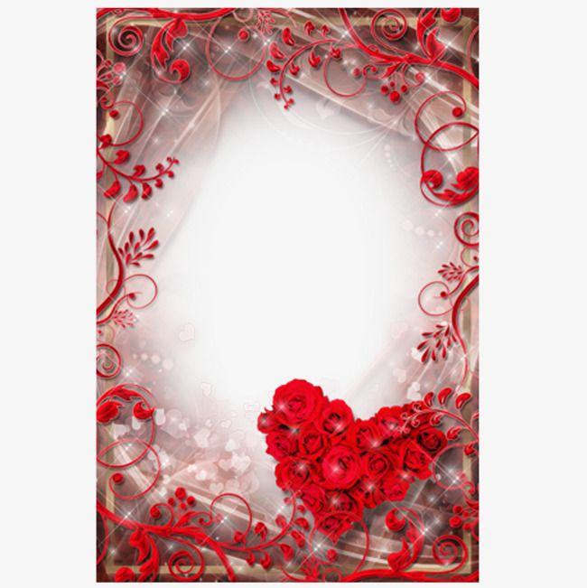 Romántico día de San Valentín Photo Frame, Material Marco, Amor ...