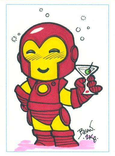 Chibi-Iron-Man ACEO. by ~hedbonstudios on deviantART
