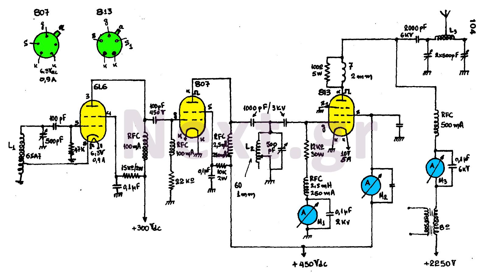 300w Valve Rf Transmitter Circuit