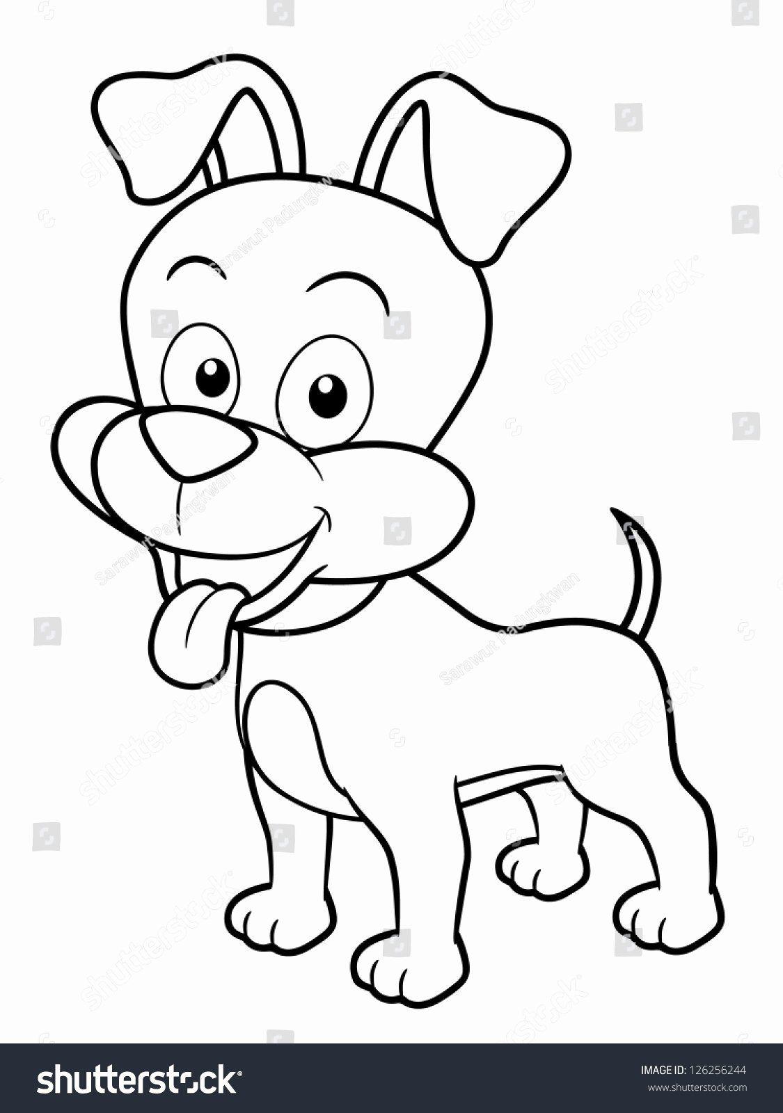 Cartoon Dog Coloring Pages Unique Illustration Cartoon Dog Coloring Book Stock Vector Dog Coloring Book Dog Outline Cartoon Dog