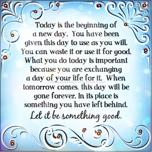 Today Is The Day New Day Quotes Today Is A New Day Good Night Quotes