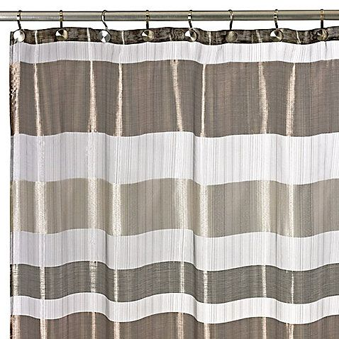 Shower curtain is made from luxurious metallic sheer fabric. The ...