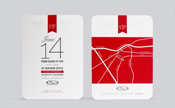 Rm Auctions L A Office Grand Opening Invitation By Aaron Summerfield Via Behance Grand Opening Invitations Grand Opening Invitations