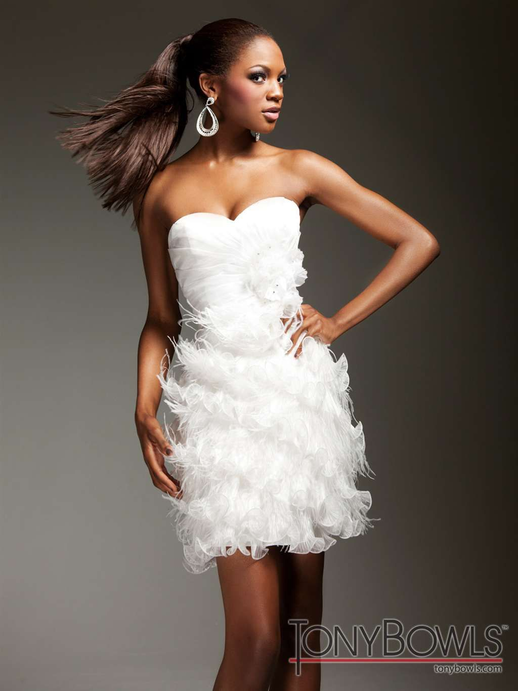 Tony bowls organza short dress ts brideus second look