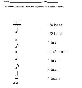 Rhythm Worksheets - Notes and Rests - Elementary Music Mat