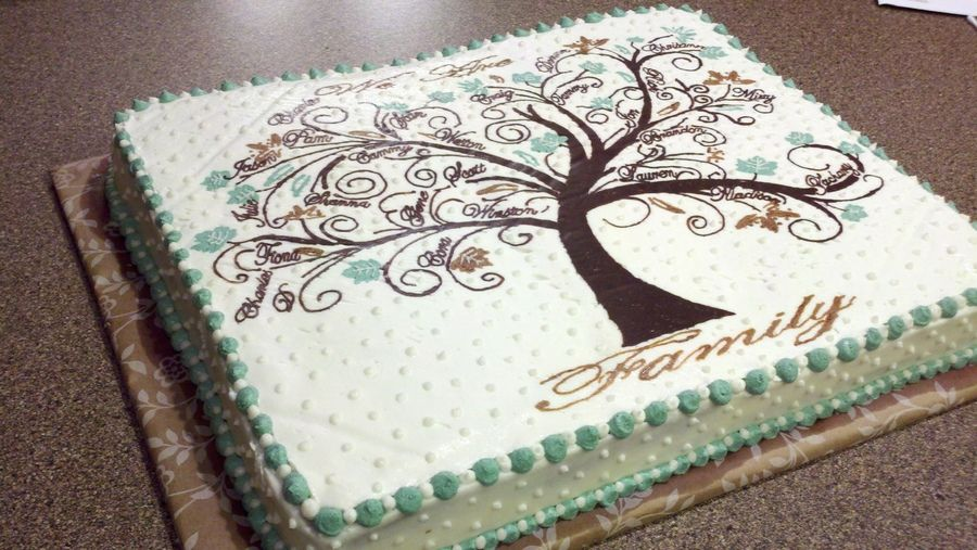 Family Tree Cake With Images Family Tree Cakes Family Reunion