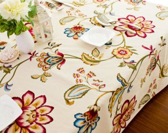Cotton Canvas Fabric Fl Thick Upholstery By The