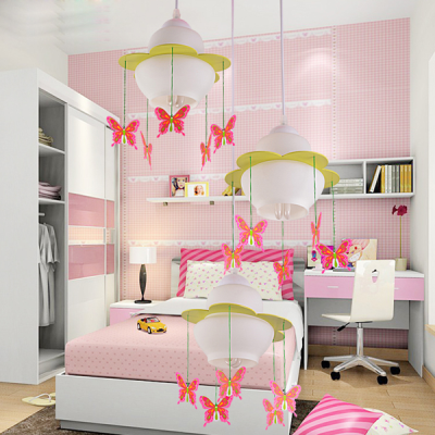 Modern Butterfly/Fire Balloon Pendant Lamp Creative Cute Living Room ...