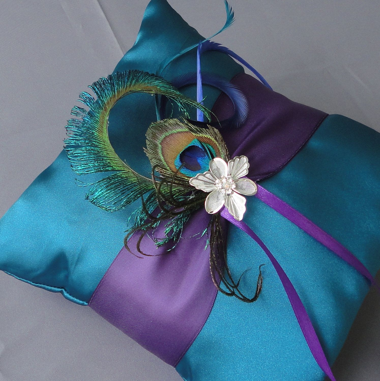 Wedding Teal And Purple Ring Bearer 28.00, via Etsy