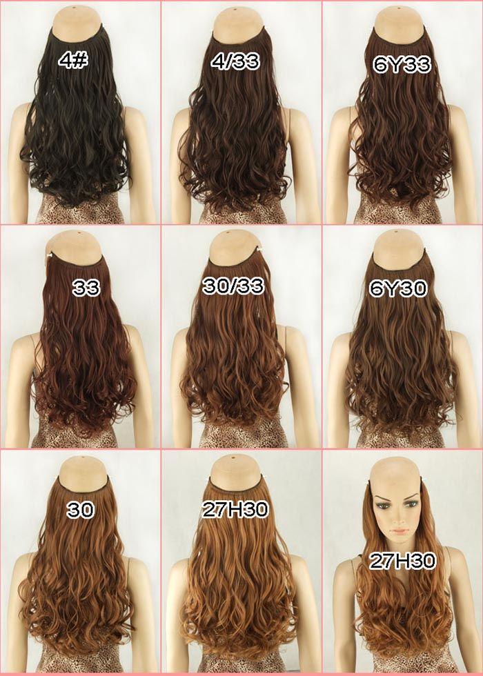 Fashion Fluffy Long Wavy High Temperature Fiber Women s Hair Extension c9e9f47541