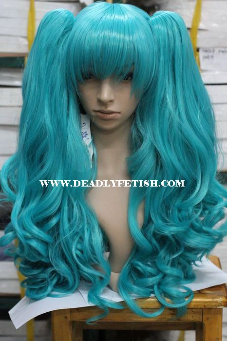 teal ponytail wig havs