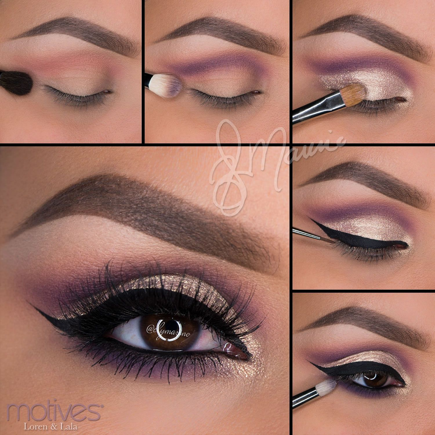 Here is another gorgeous look by professional makeup artist Ely