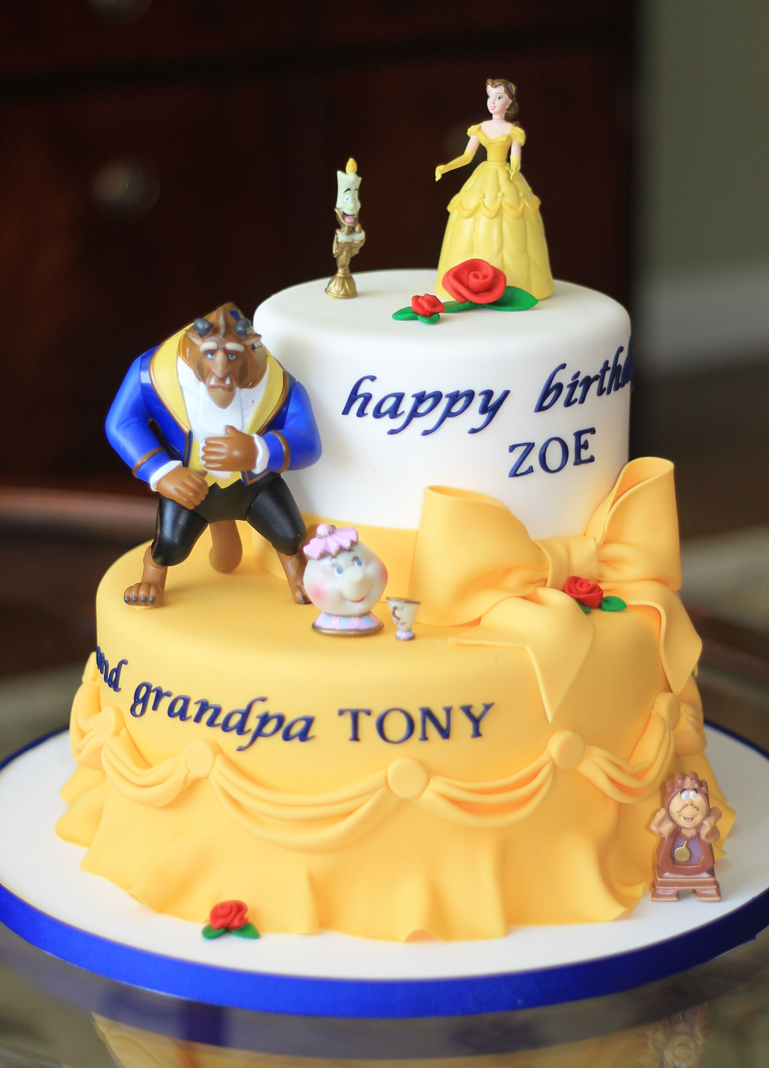 Beauty and the beast cake Cakesparty ideas Pinterest Beast