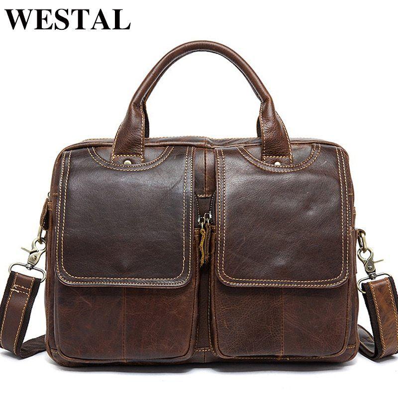 2c5f9aefa WESTAL bandolera hombre marca famosas bolso de mano hombre bolso cuero  genuino hombres bolso mensajero hombre