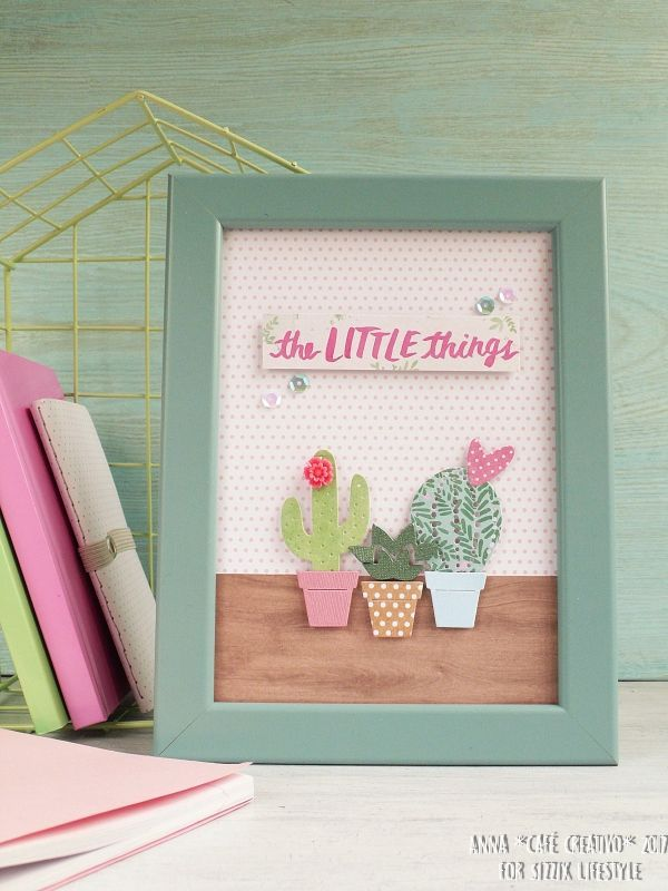 DIY Spring Home Decor Frame With New Sizzix Dies - DIY papercraft