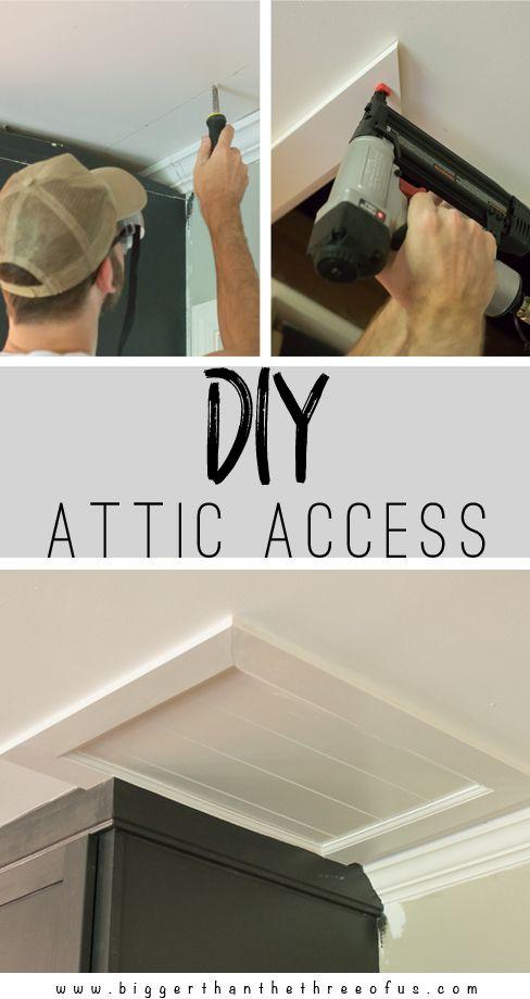 Diy Attic Access Scuttle Attic Bigger Than The Three Of Us Attic Renovation Attic Remodel Attic Doors