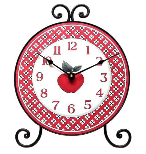 Iwgac Home Indoor Seasonal Decorative Accessories Holiday Gifts Country Apple Table Clock IWAGC http://www.amazon.com/dp/B00KJD5K9E/ref=cm_sw_r_pi_dp_NNn6wb09J567G