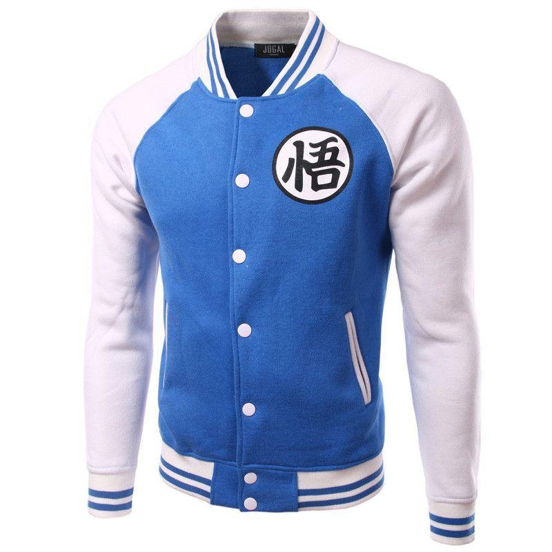 New Black Baseball Jacket Men 2016 Autumn Brand Mens Anime