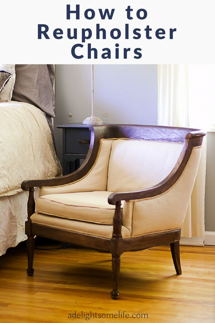 How To Reupholster Side Chairs - Step-by-Step