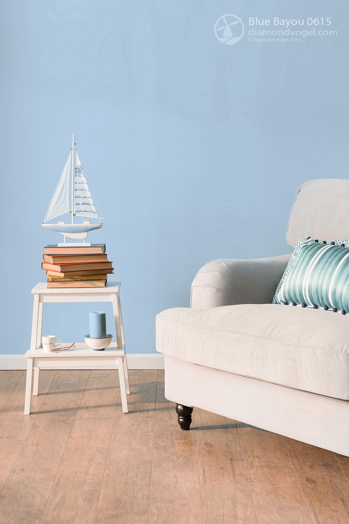 Nautical Blues: This mid tone blue creates a tranquil mood ...