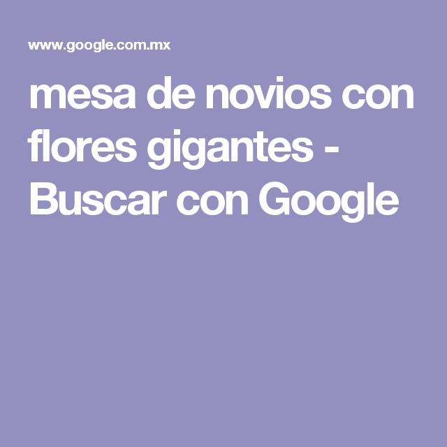 mesa de novios con flores gigantes - Buscar con Google