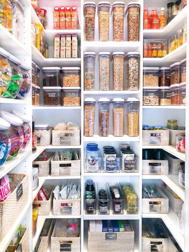 Khloe Kardashian S Pantry The Home Edit Kitchen Organization Pantry Cupboards Organization Kitchen Pantry Storage