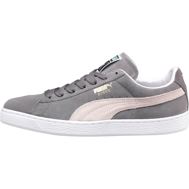 Puma Mens Suede Classic Trainers Steeple Grey/White | Puma ...