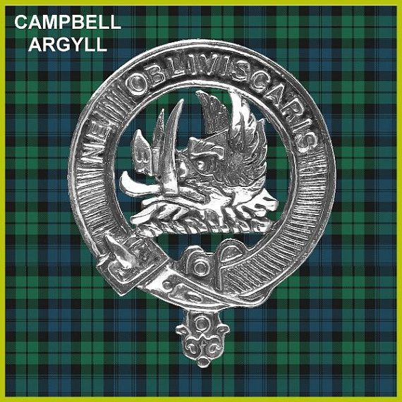 Campbell Of Argyll Clan Crest Scottish Cap Badge by